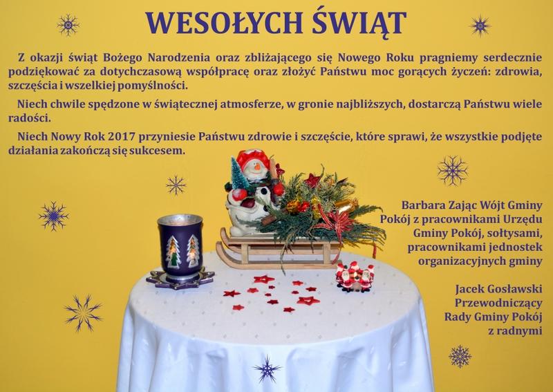 Życzenia Bożonarodzeniowe 2016 - gmina Pokój.jpeg