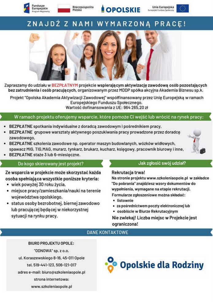 plakat rekrutacyjny Opolska Akademia Aktywizacji Zawodowej.jpeg