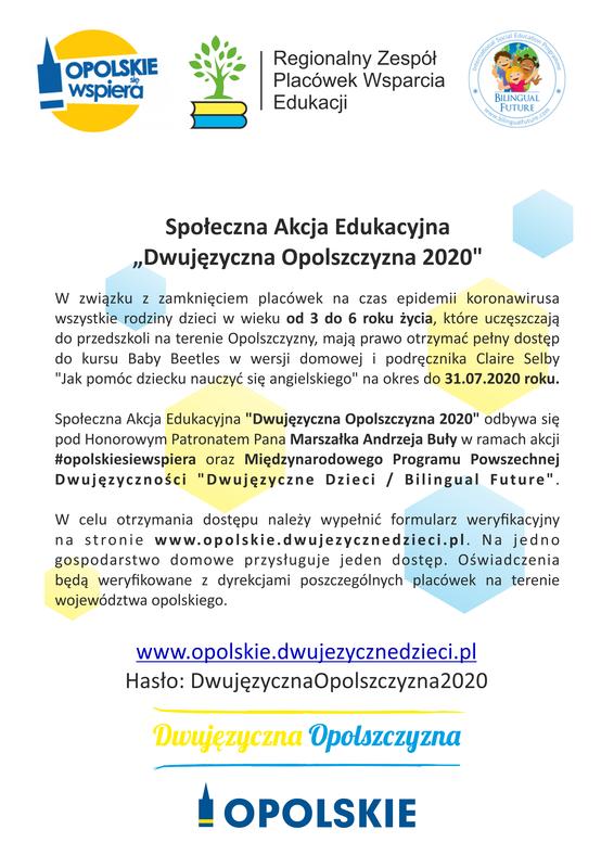 plakat akcji dwujęzyczna opolszczyzna