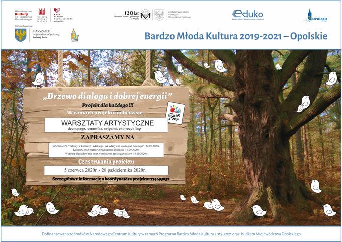 """plakat - Projekt dla każdego """"Drzewo dialogu i dobrej energii"""""""