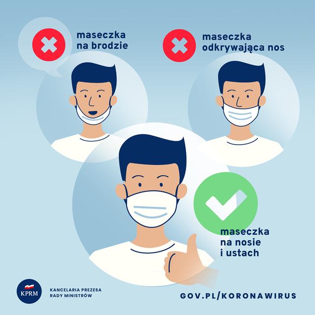 Materiały Kancelarii Prezesa Rady Ministrów dotyczące koronawirusa.