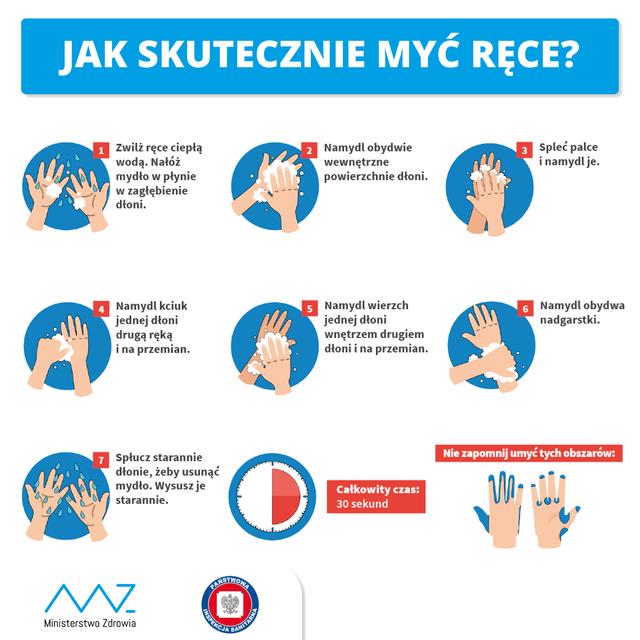 Materiały Ministerstwa Zdrowia dotyczące koronawirusa.