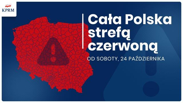 Materiał KPRM Cała Polska strefą czerwoną od soboty, 24 października