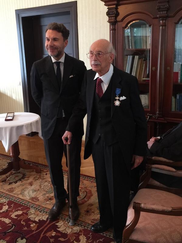 Książę Ferdynand von Württemberg podczas uroczystości wręczenia Orderu Zasługi RP, która odbyła się 18.11.2016 r. w Konsulacie Generalnym Rzeczypospolitej Polskiej w Monachium.