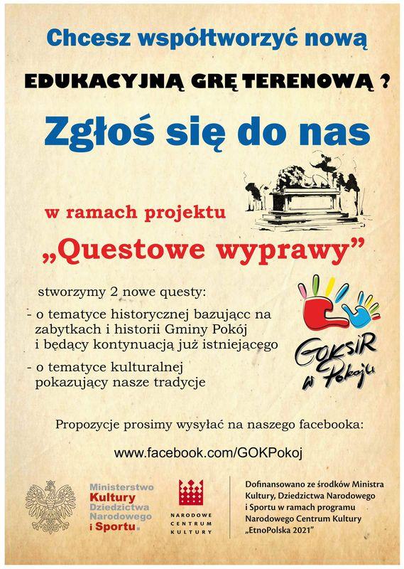 Plakat GOKSiR - Edukacyjna gra terenowa