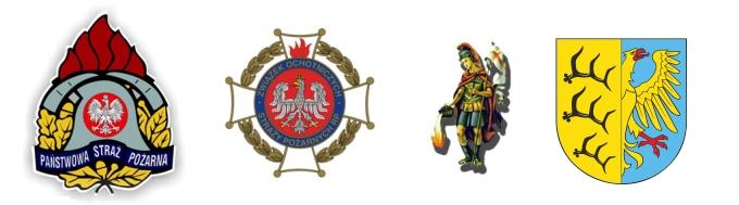 Logotypy Dzień Strażaka - logo OSP, PSP, Święty Florian Herb Gminy Pokój