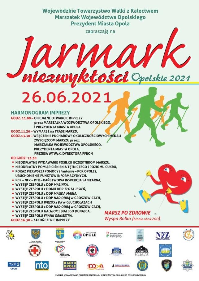 Plakat: Jarmark Niezwykłości - Marsz po Zdrowie