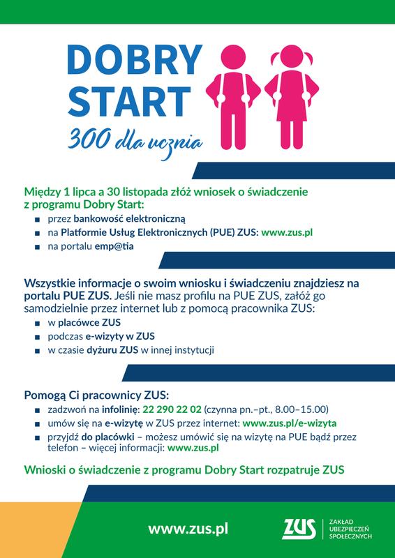 Program Dobry Start ZUS