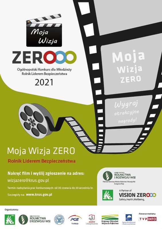 Plakat KRUS: Moja Wizja Zero - Rolnik Liderem Bezpieczeństwa