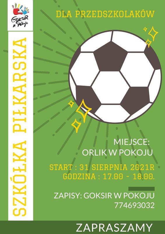 Szkółka piłkarska dla przedszkolaków