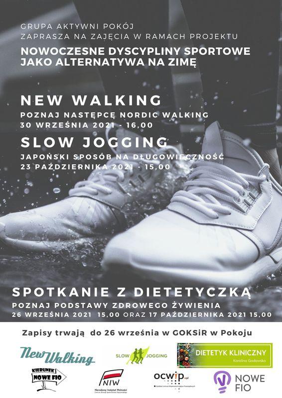 Plakat Gminnego Ośrodka Kultury, Sportu i Rekreacji w Pokoju - Grupa Aktywni Pokój
